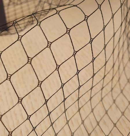 Melnas cepures tīkla tilla audums. Photo 8