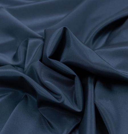 Tumši zila viskozes un elastāna oderes audums. Photo 5