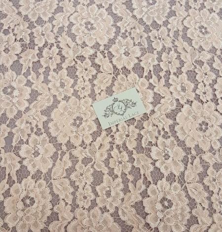 Salmon Lace Fabric. Photo 3