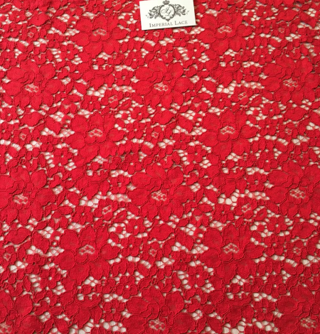 Red lace fabric. Photo 6