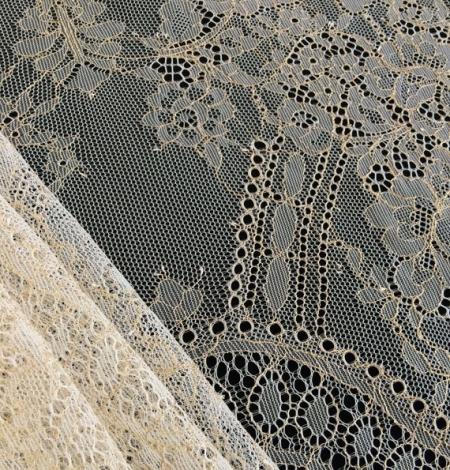Ziloņkaula ar Zeltu Chantilly mežģine. Photo 2