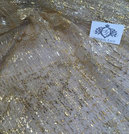 Miesas krāsas tilla audums ar zelta pārklājumu. Photo 10