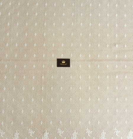 Ivory mesh floral guipure lace fabric. Photo 8
