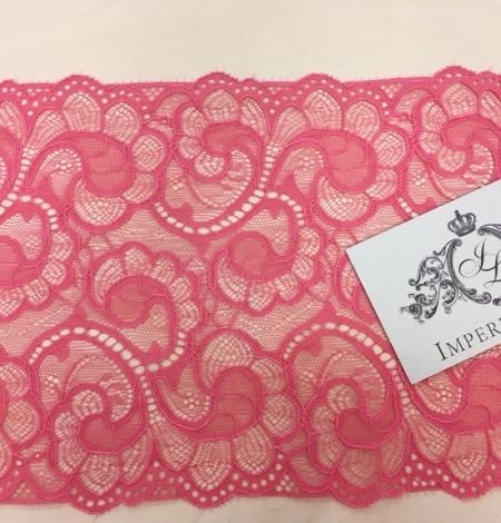 Aveņu rozā elastīga mežģīnes maliņa. Photo 2