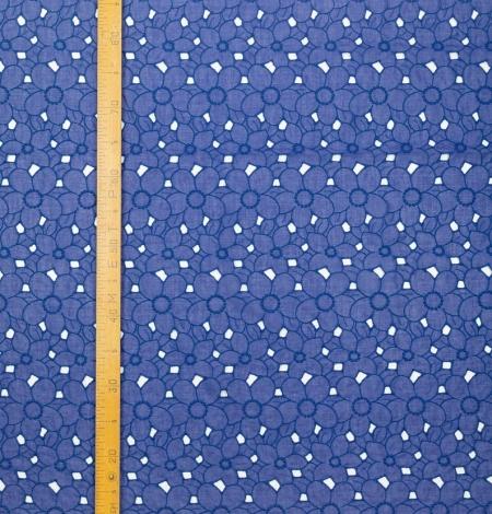 Zils ar lillā toni alencon mežģīnes audums. Photo 7