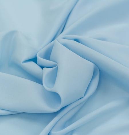 Zils zīds ar elastānu satīna audums. Photo 7