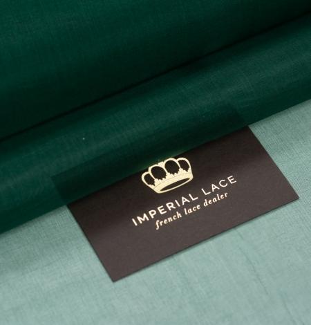 Rubīna zaļš zīda organzas audums. Photo 1