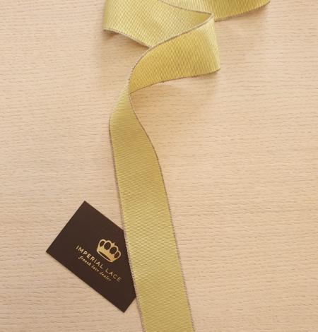 Pistācijas zaļās grosgrain lentes linu lentes aplikācija. Photo 1