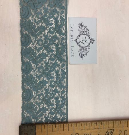Zilganzaļi pelēka kokvilnas mežģīnes maliņa. Photo 8