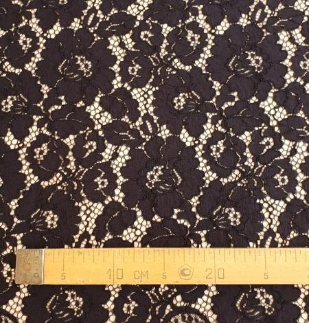 Black guipure lace fabric. Photo 8