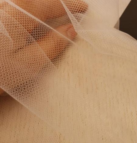 Bēšs smalkas struktūras tilla audums no Itālijas. Photo 5
