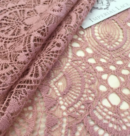 Old Rose lace fabric. Photo 1