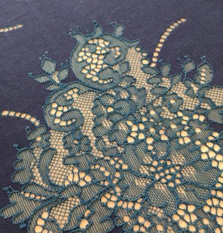 Dark lilac lace fabric. Photo 3