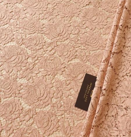 Nude guipure lace fabric. Photo 1