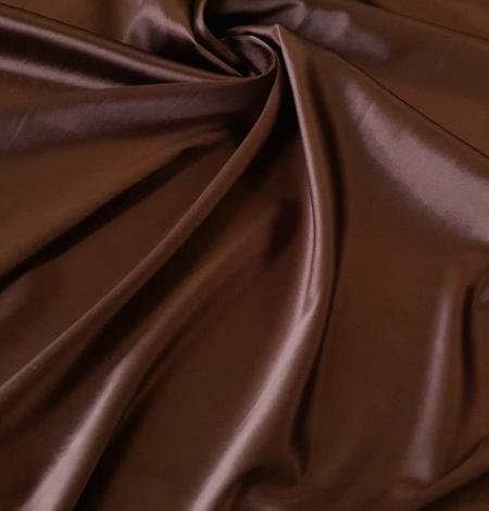 Šokolādes brūns satīns ar elastānu. Photo 1