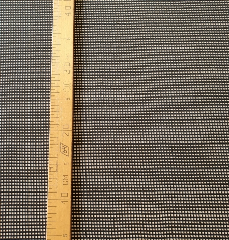 Black guipure mesh lace fabric. Photo 9