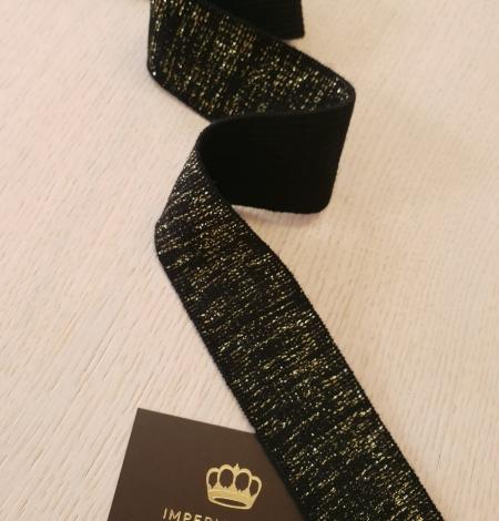 Melns ar zelta gumijas lentes aplikācija. Photo 2
