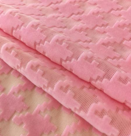 Pink velvet tulle fabric. Photo 6