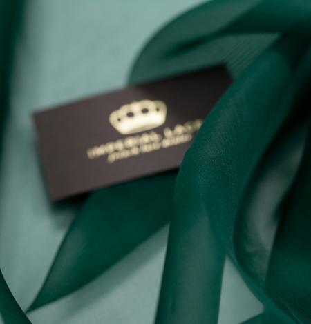 Rubīna zaļš zīda organzas audums. Photo 3