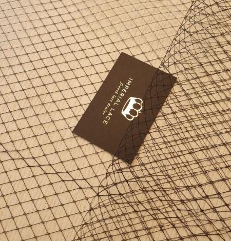 Melnas cepures tīkla tilla audums. Photo 2