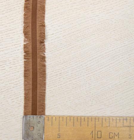 Brūna ripsa lenta ar bārkstīm abās pusēs. Photo 4