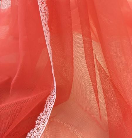 Oranžas krāsas tilla audums. Photo 9