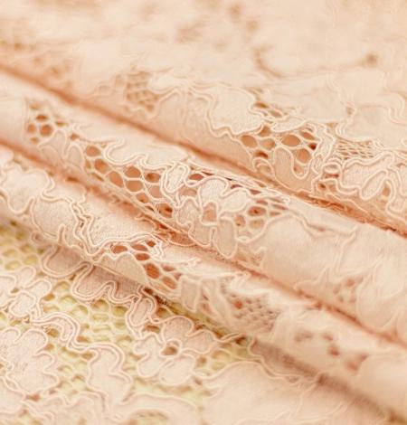 Rozā ziedu raksta guipure mežģīņu audums. Photo 4