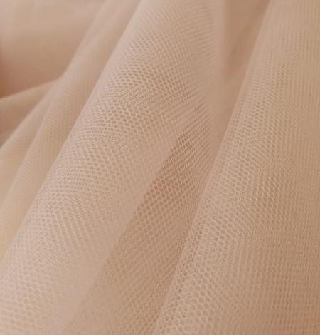 Bēšs smalkas struktūras tilla audums no Itālijas. Photo 4