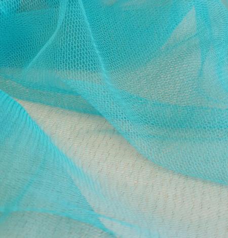 Tirkīza krāsas zīda tilla audums. Photo 7