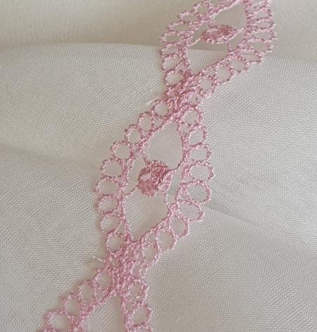 Rozā macrame mežģīnes apdare. Photo 3