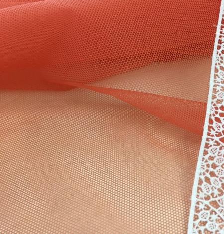Oranžas krāsas tilla audums. Photo 4