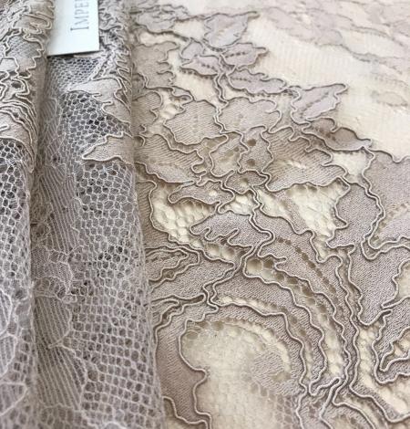 Dark ecru lace fabric. Photo 7