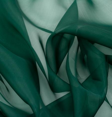 Rubīna zaļš zīda organzas audums. Photo 7