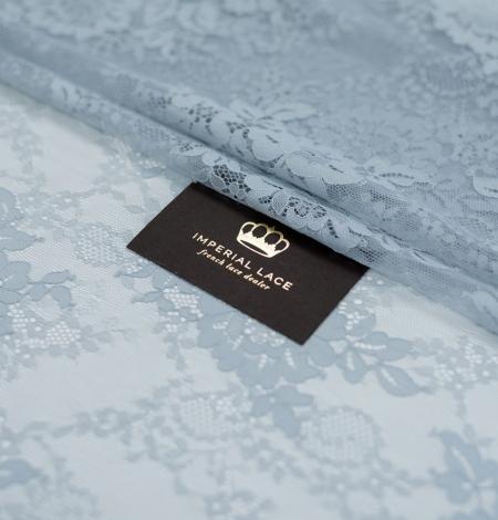 Baložu zils ziedu raksta chantilly mežģīņu audums. Photo 1