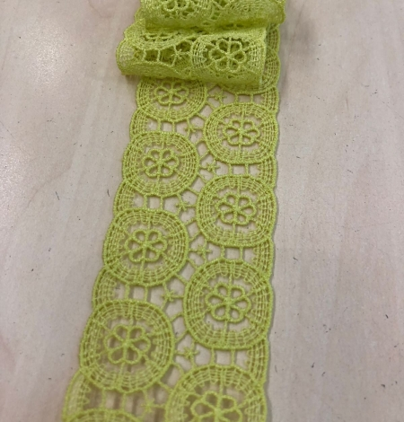 Salāt zaļa kokvilnas mežģīne. Photo 4